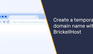 Create a temporary domain name